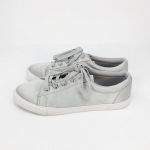 Forever 21 Fashion Sneakers Gray Low Top Lace Up 8